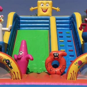 Big and Funny Sponge Bob Slide for Rent