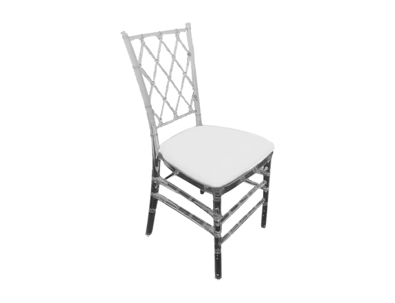 Rent Acrylic Criss cross Chair
