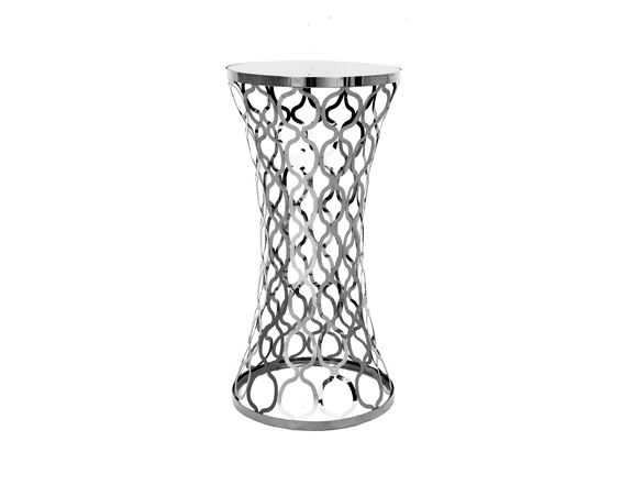 Chain Cocktail Table Silver Rental