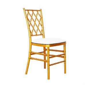 Gold Criss Cross Chair for Rent