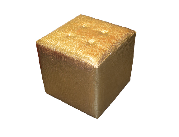 Gold Ottoman for Rent