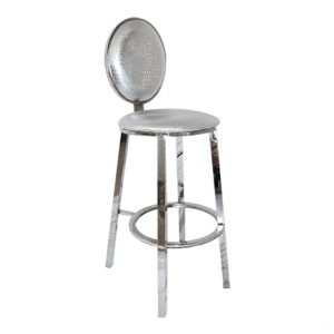 Silver Dior Barstool Rental