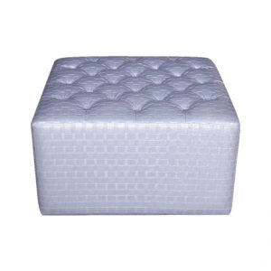Silver Ottoman for Rent