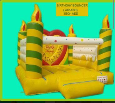 Rent Birthday Cake Bouncing Castle