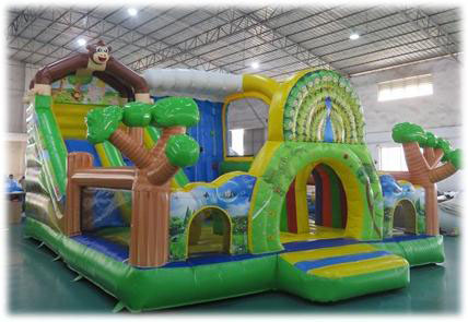 Rent New Monkey Combo (Obstical, Slide & Bouncy)