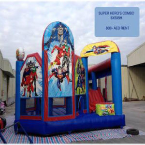 Rent Superhero Combo (Small Slide & Bouncy)