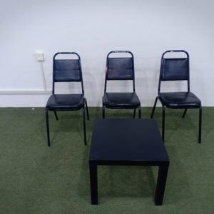 Rent Black Steel Chairs
